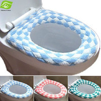 Hot Selling Winter Flocking Toilet Seat Cover Multi Color O Closestool Mat Padded Toilet Seat Warm And Soft Color By Random