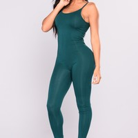 Nova Season Jumpsuit - Hunter Green
