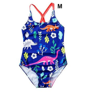 Baby Swimwear for Girls Clothes 2018 New Animal Print Girls One Piece Swimsuit Summer Beachwear Children Clothing Kids Swimwear