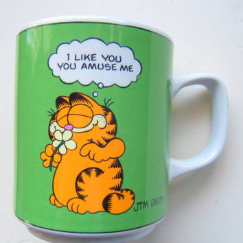 Vintage Garfield I Like You Coffee Mug 1978