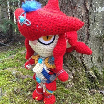 Legend of Zelda Inspired: Prince Sidon Amigurumi  (Crochet Plushie/Plush Toy) from Breath of the Wild - READY TO SHIP
