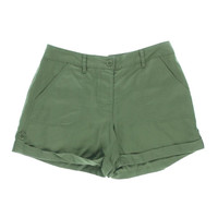Two by Vince Camuto Womens Tencel Cuffed Casual Shorts