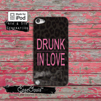 Drunk in Love Beyonce Pink Surfboard Surfboart Yonce Cute iPod Touch 4th Generation or iPod Touch 5th Generation Rubber or Plastic Case