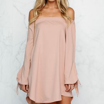 Off Shoulder Bow Dress  11889