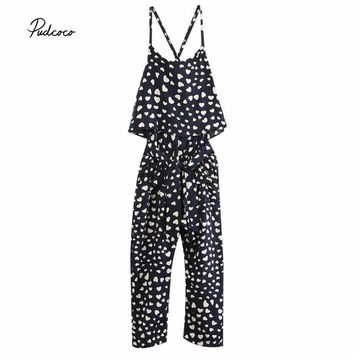 Girl Sleeveless Dress Jumpsuit Trousers Outfits