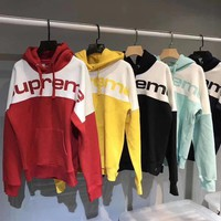 supreme fashion hooded sport top sweater sweatshirt hoodie