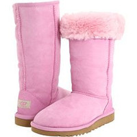 """UGG"" Women Fashion Wool Snow Boots simple high boots Pink"