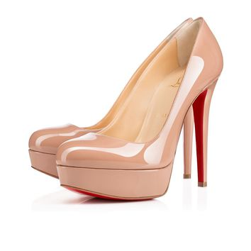 Christian Louboutin Cl Bianca Nude Patent Leather Platforms 1100024pk20 - Best Online Sale