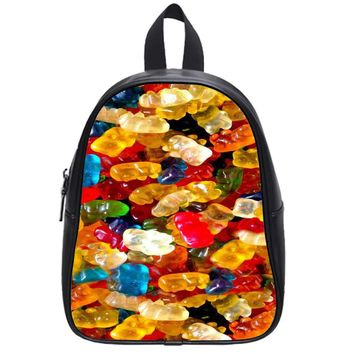 Delicious Gummy Bears Candy School Backpack Large