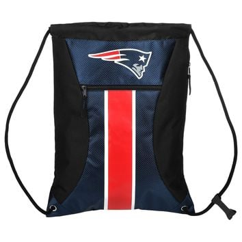 New England Patriots HighEnd Big Stripe Zipper Drawstring Gym Bag Backpack sack