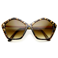 Women's Pentagon Oversize Fashion Sunglasses 8908