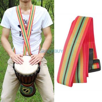 DCCKH0D African Hand Drum Strap Nylon Colorful Djembe Strap for Drummer New