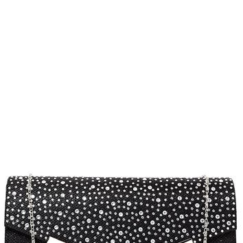 Embellished Black Clutch Bag