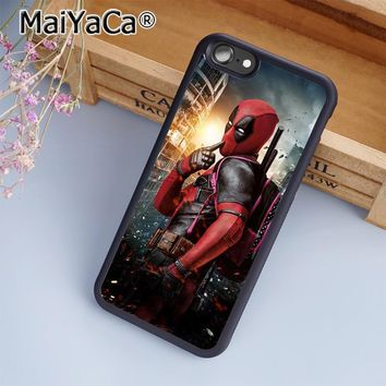 Deadpool Dead pool Taco MaiYaCa  Marvel DC Comic Movie Superhero Phone Case Cover for iPhone 5 5s 6 6s 7 8 Plus X soft case for samsung S7 edge AT_70_6