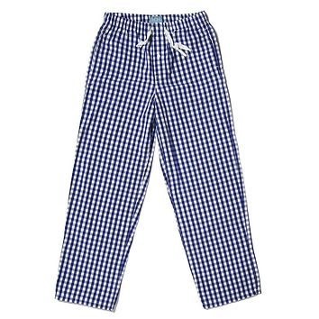 Sleeper Pants in Royal Blue Gingham by Castaway Clothing - FINAL SALE