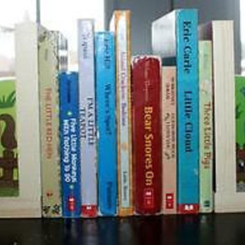 Kids Bookends Farm Animals Barnyard Book Ends Kids Bedroom Baby Nursery BE0015