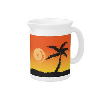 Island Sunset Drink Pitcher
