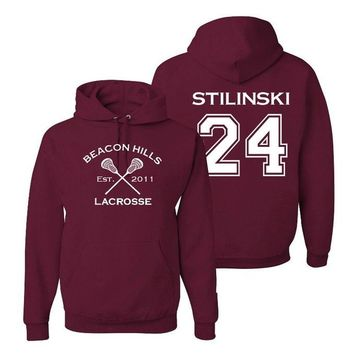 Stilinski 24 Teen Wolf Beacon Hills Inspired Lacrosse T-Shirt or Stilinski Hoodie