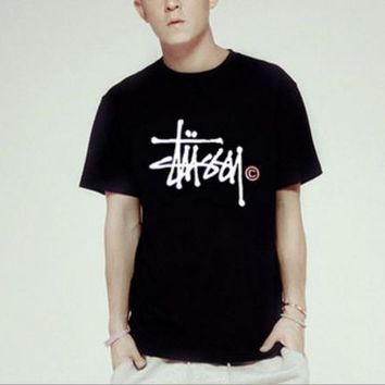 stussy Fashion Casual print pullover T-shirt top blouse Tee