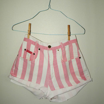 1990s Candy Cane Stripe Shorts