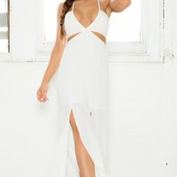 Key Player Maxi Dress in White