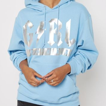 Girl Power Lightening Bolt Holographic Hoodie | Hoodies | rue21