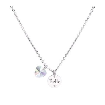 Dainty Inspirational Necklace made with Crystals from Swarovski  - BELLE