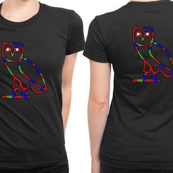 MDIG1GW Ovo Colorize Cover Logo 2 Sided Womens T Shirt
