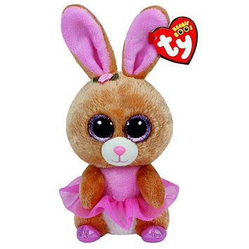 "Pyoopeo Ty Beanie Boos 6"" 15cm Twinkle Toes the Bunny Rabbit Plush Regular Stuffed Collectible Soft Big Eyes Rabbit Doll Toy"