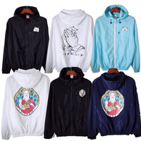 RIPNDIP Jacket Men Women RIPNDIP Windbreaker Cartoon Cat Hip Hop Rip n Dip Sunscreen Jackets Softshell Uniform RIPNDIP Jacket