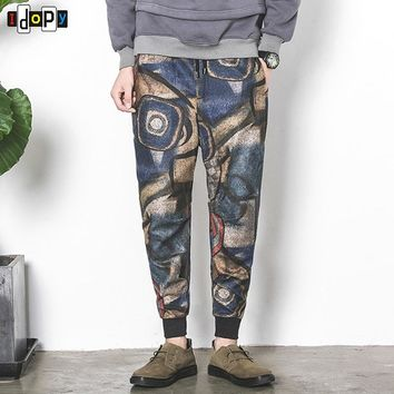 European And American Style Floral Pattern Sweat Pants Drawstring Casual Breathable Joggers Pants For Men