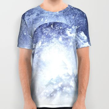 Even mountains get cold All Over Print Shirt by HappyMelvin