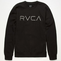 Rvca Embroidered Mens Sweatshirt Black  In Sizes