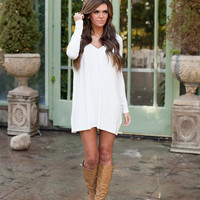 Bamboo Piko Dress Ivory