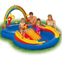 """Intex Rainbow Ring Inflatable Play Center, 117"""" X 76"""" X 53"""", for Ages 2+"""