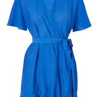 Ruffle Wrap Dress - Dresses - Clothing