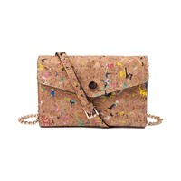 Womens Cork Crossbody Clutch