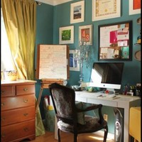 Lauren's Office Makeover / Repaint in this color Rendezvous Bay by Benjamin Moore