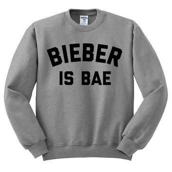 Bieber Is Bae Oversized Sweater - Justin Bieber Love Yourself Hipster Instagram Teen Girl Gift Song Lyric