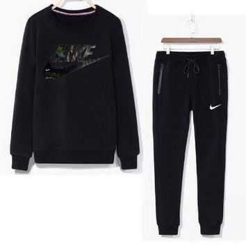 NIKE Men Casual Sport Top Sweater Pullover Pants Trousers Set Two-Piece-2