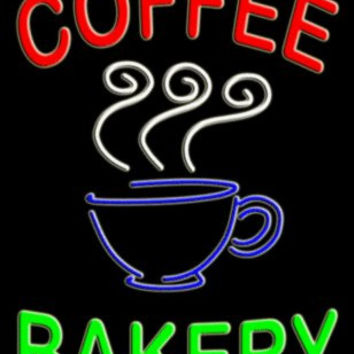 Coffee Bakery Vertical Large Handcrafted Real GlassTube Neon Sign