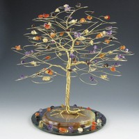 CUSTOM Tree Cake Topper 7 x 7 in Swarovski Crystal by byapryl