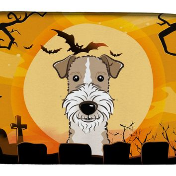 Halloween Wire Haired Fox Terrier Dish Drying Mat BB1805DDM