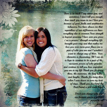 Sisters Maid of Honor Best Friends Photo Art Custom Photo Editing