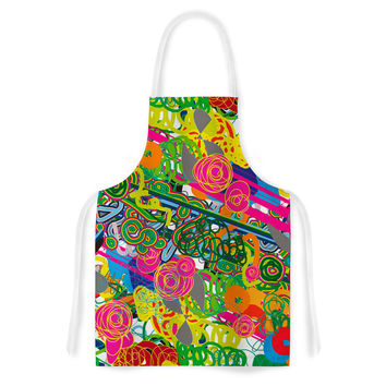 "Frederic Levy-Hadida ""Psychedelic Garden"" Artistic Apron"