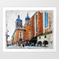 Cracow art 1 #cracow #krakow #city Art Print by jbjart