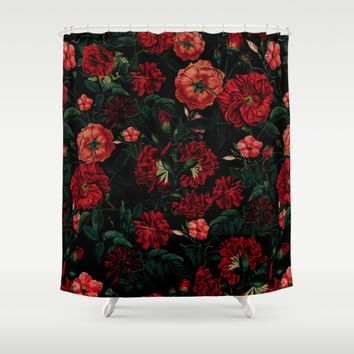 RED NIGHT Shower Curtain by VS Fashion Studio