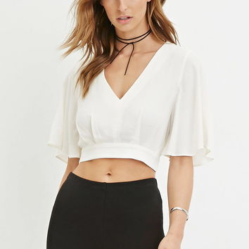 Contemporary Textured Crop Top | LOVE21 - 2000146761