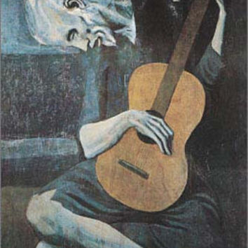 Pablo Picasso The Old Guitarist Art Poster 24x36