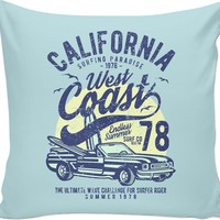 Cali Surfing Couch Pillow